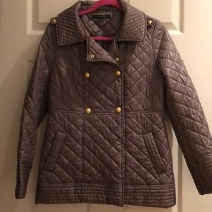 Via Spiga olive green quilted jacket size medium